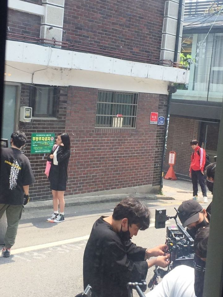 """Park JiHoon & Lee RuBy Spotted Filming For Drama """"Love Revolution"""""""