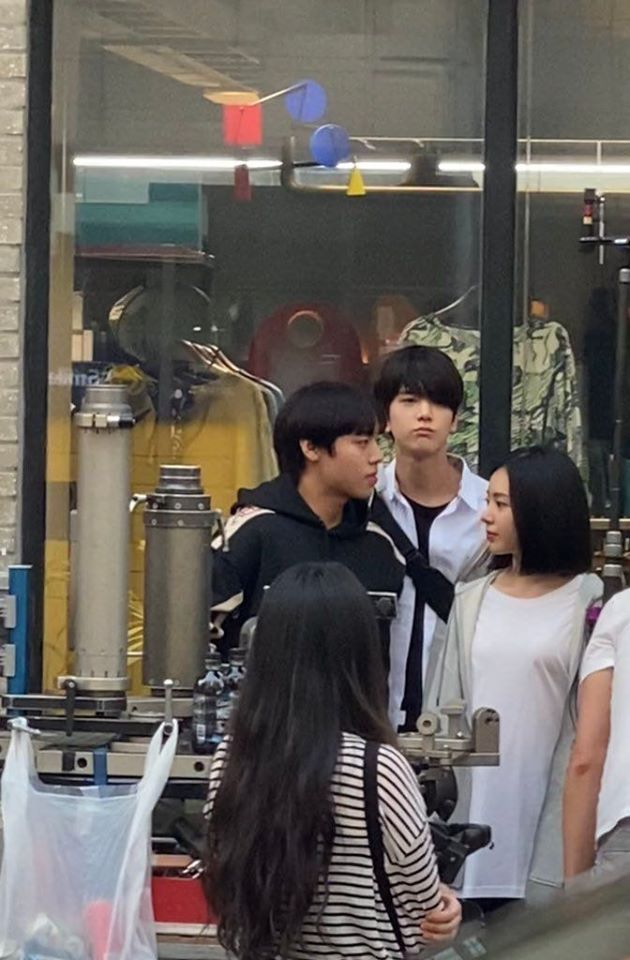 """More Pictures Of Park JiHoon, THE BOYZ's YoungHoon & Lee RuBy Filming For Drama """"Love Revolution"""" Shared Online"""