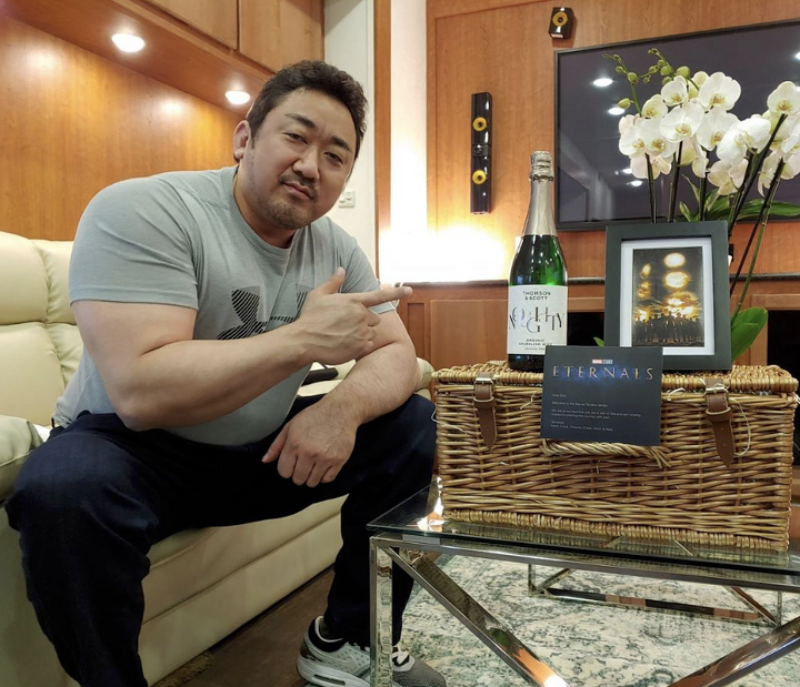 Check Out The Fancy Trailer Marvel Studios Hooked Ma DongSeok Up With