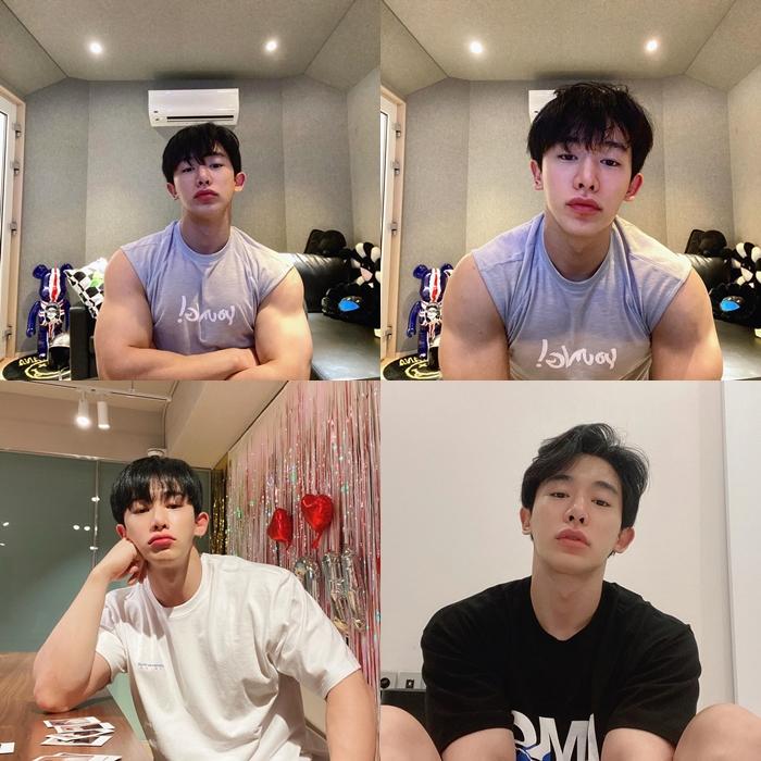 WonHo Posts Boyfriend Material Pictures On His Instagram