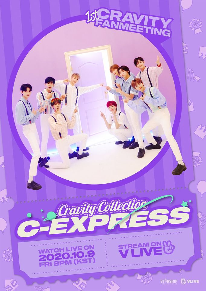 CRAVITY 1ST FANMEETING [CRAVITY COLLECTION : C-EXPRESS] : Live Stream And Ticket Details