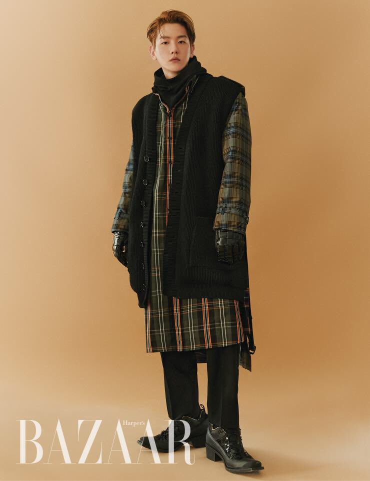 EXO's BaekHyun Poses For 'Harpers Bazaar' As The Ambassador Of 'Burberry'