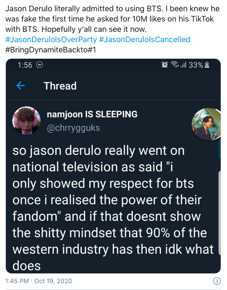 ARMY Criticizes Jason Derulo For Not Properly Crediting BTS