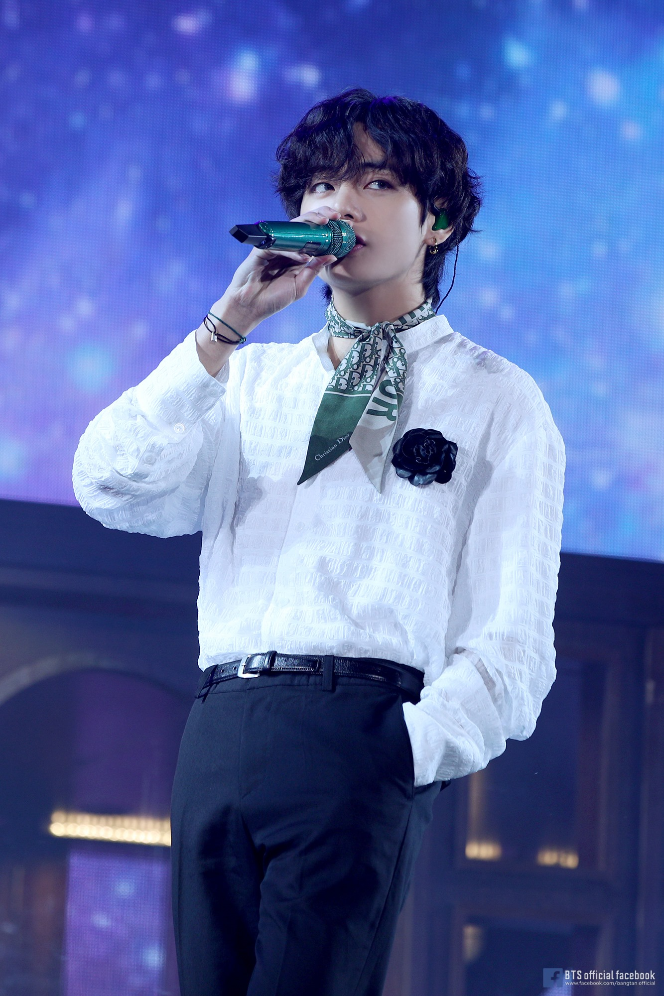 Netizens Ask Which BTS Member Wore White Suit With Green ...