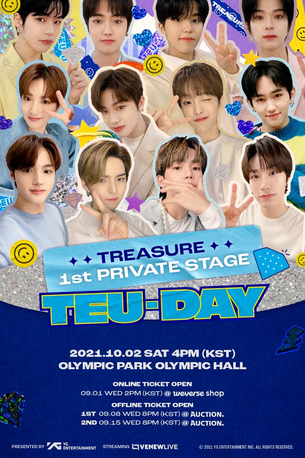 TREASURE's 1st Private Stage [TEU-DAY] Fan Meeting: Live Stream And Ticket Details